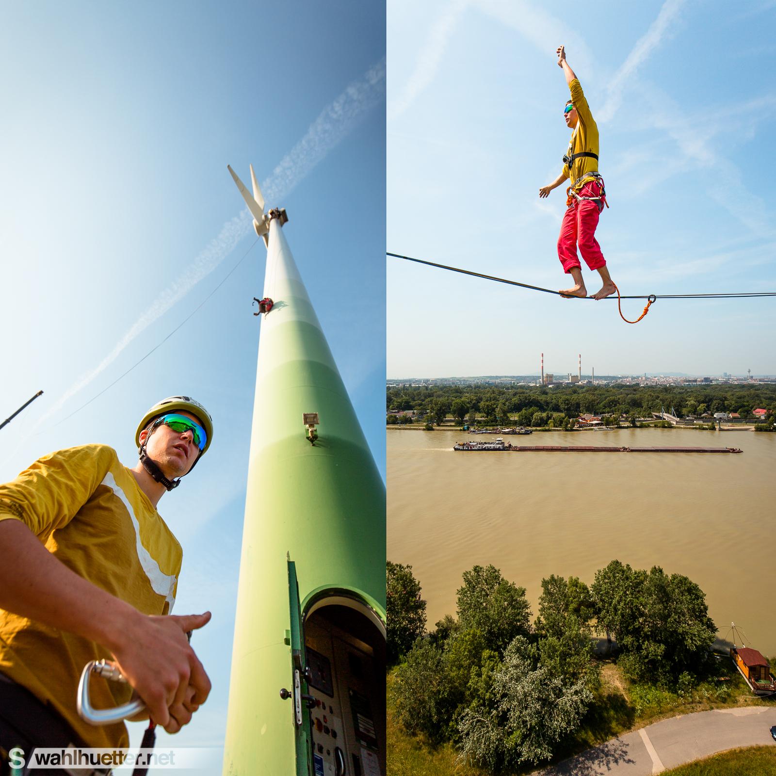 Wind Turbine Highline | Peter Auer | Vienna | www.wahlhuetter.net